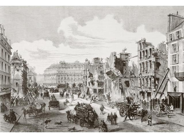 Demolition Of Buildings In The Rue De La Paix For The Opening Of The Rue Reaumur Paris France In 1868 From Lunivers Illustre Published In Paris In 1868 Poster Print (17 x 12)
