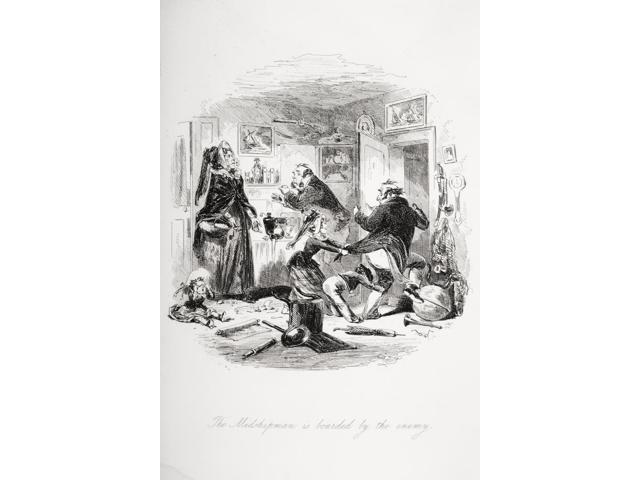 The Midshipman Is Boarded By The Enemy Illustration From The Charles Dickens Novel Dombey And Son By HK Browne Known As Phiz Poster Print (12 x 18)