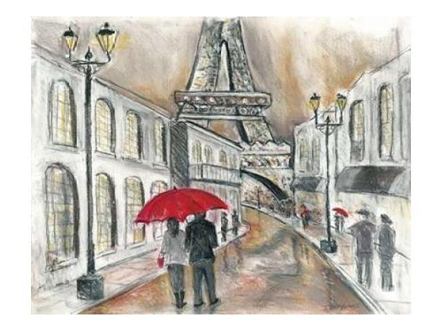 Rain in Paris Poster Print by Todd Williams (22 x 28)