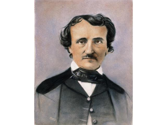 Edgar Allan Poe (1809-1849) Namerican Poet And Short-Story Writer Oil Over A Photograph 1848 Poster Print by  (18 x 24)