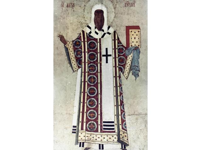 The Metropolitan Alexis Nsaint Alexis Metropolitan Of Moscow (D 1378) Wood Icon C1480 By Dionisius Poster Print by  (18 x 24)