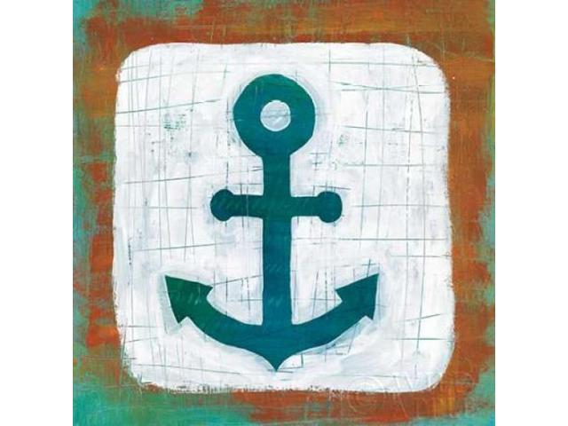 Ahoy III Red Blue Poster Print by Melissa Averinos (24 x 24)