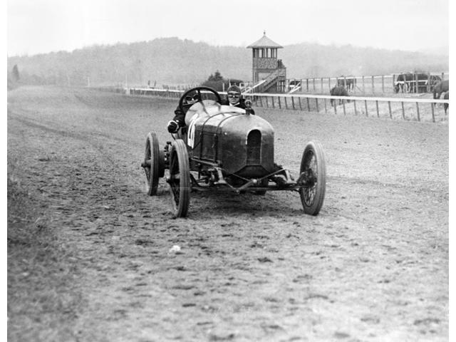 Stutz Racecar 1916 Na Man And Woman In A Stutz Weightman Special Racecar At The Benning Racetrack Near Washington DC 1916 Poster Print by  (18 x 24)