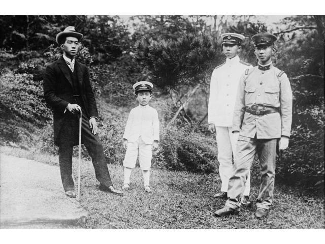 Hirohito (1901-1989) Nemperor Of Japan 1926-1989 Hirohito Left Photographed With His Brothers Prince Mikasa Prince Takamatsu And Prince Chichibu 1921 Poster Print by  (18 x 24)