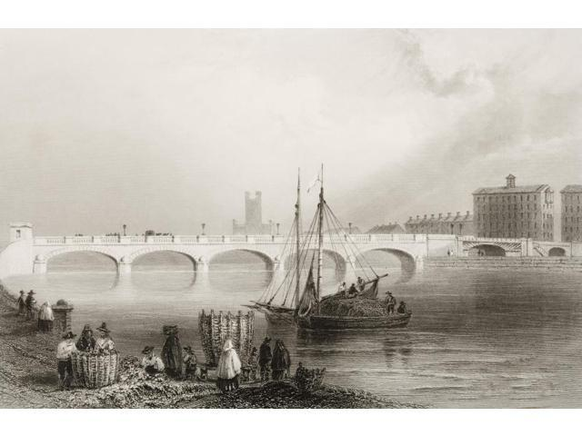 Wellesley Bridge Limerick Ireland Drawn By WHBartlett Engraved By JC Armytage From The Scenery And Antiquities Of Ireland  By NPWillis And JStirling CoyneIllustrated From Drawings By WHBartlett Publis