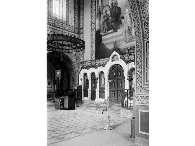 Holy Land Ninterior Of The Russian Orthodox Church Of Saint Mary Magdalene Mount Of Olives East Jerusalem Stereograph C1910 Poster Print by  (18 x 24)