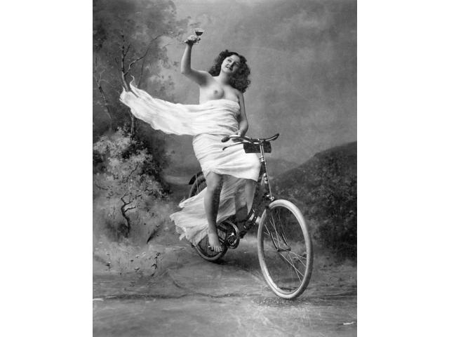 One For The Road C1900 Nnude On A Bicycle Poster Print by  (18 x 24)