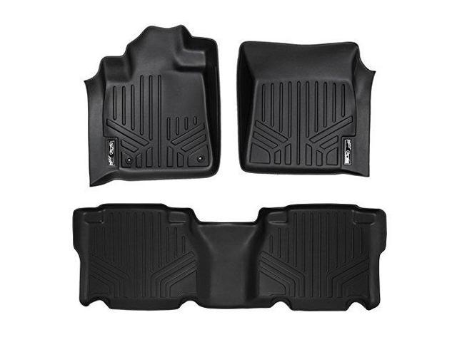MAXFLOORMAT All Weather Custom Fit Floor Mats Liner for TUNDRA CREW MAX (Black)