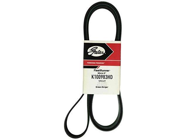 Gates K100983HD Serpentine Belt-FleetRunner Heavy Duty Micro-V Belt Gates K10098