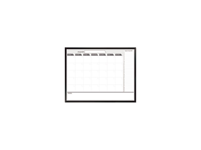 Magnetic Dry Erase Board, 48 x 36, Black/White Calendar with Black-Pai