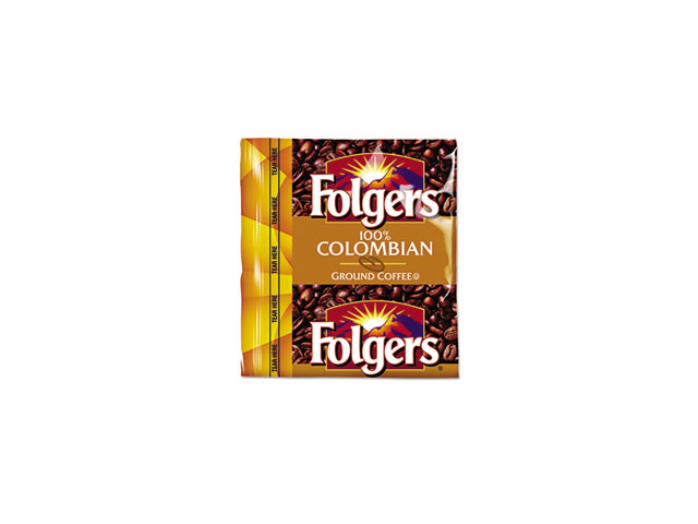 Folgers 06142 Coffee Premeasured Packs, Colombian, 0.9 oz Fractional Packs, 150/Carton