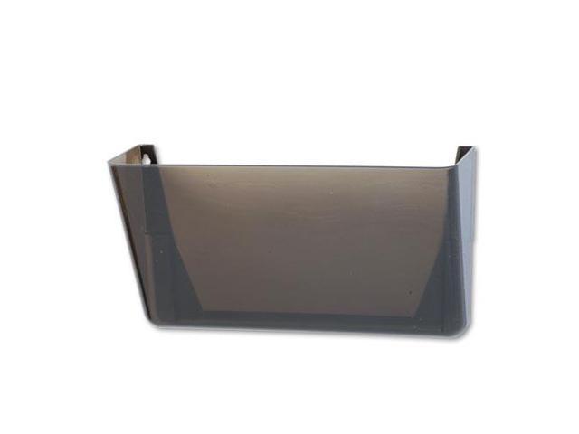 Stak-A-File Single Wall Pocket, Letter, Smoke