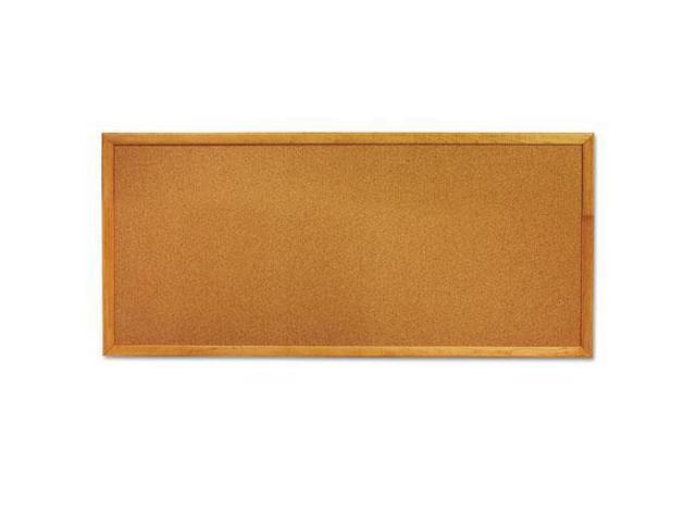 Slim Line Bulletin Board, Natural Cork/Fiberboard, 12 X 36, Laminate O