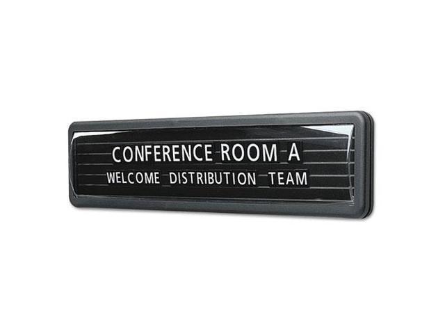 Magnetic Wall/Desk Nameplate, Radius Edge, Dark Gray Plastic Base, 3
