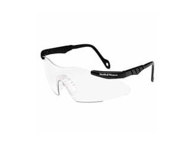 Magnum 3G Safety Eyewear, Smoke Polycarb Anti-Scratch Lenses, Black Ny