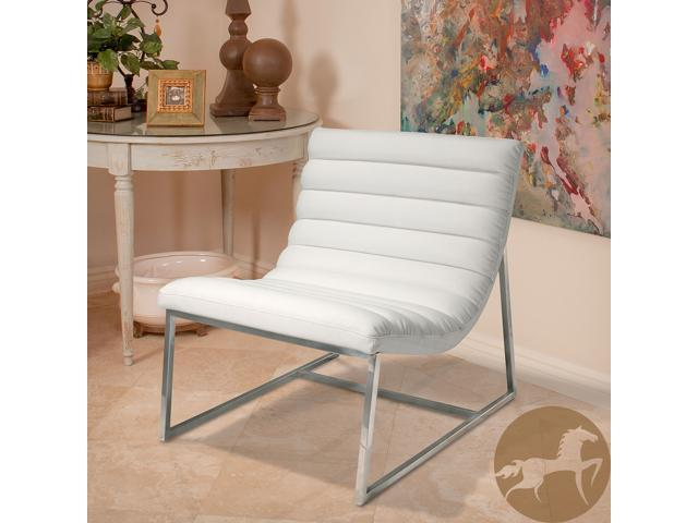 Captivating Christopher Knight Home Parisian White Leather Sofa Chair