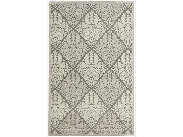 Nourison Graphic Illusions Ivory Diamond Pattern Rug (2'3 x 3'9)
