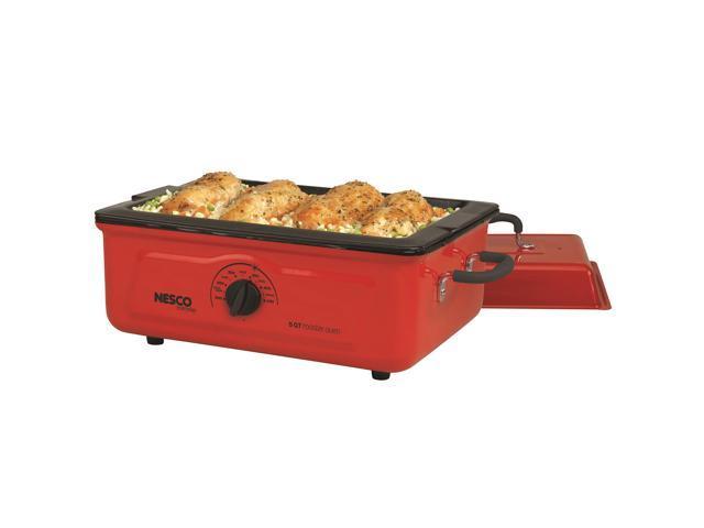 Nesco Cookwell Red 5-quart Porcelain Roaster Oven