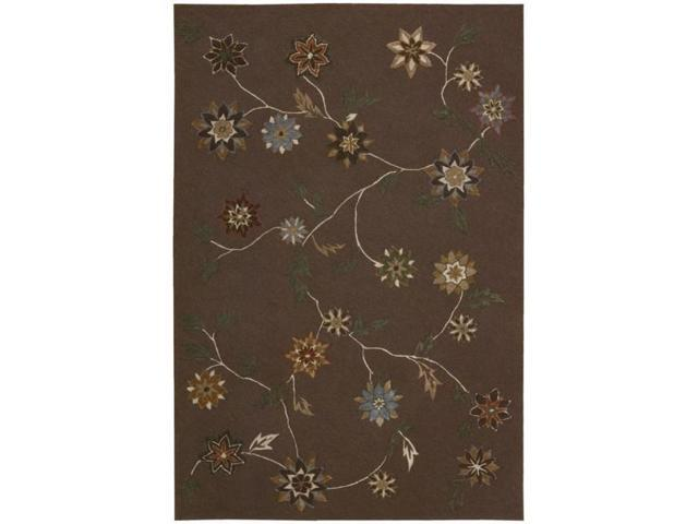 Nourison Hand-Tufted Contours Brown Area Rug (8' x 10'6