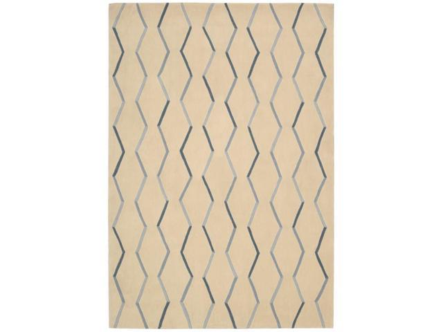 Nourison Contours Hand-tufted Ivory Rug (5 x 7'6)