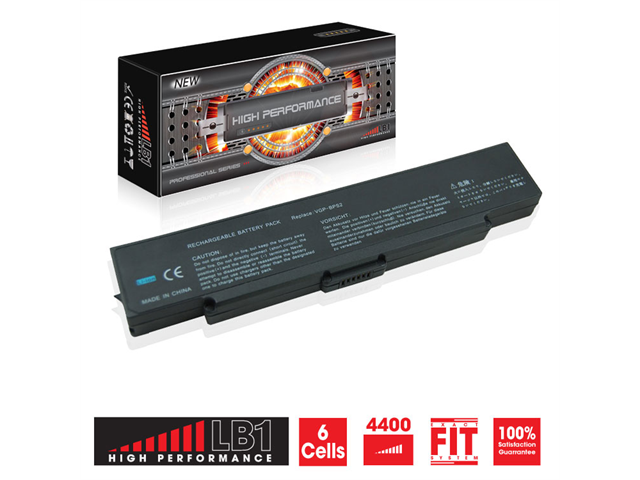 LB1 High Performance© Sony Vaio VGN-SZ44CN Laptop Battery (Black) 11.1V