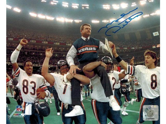 Mike Ditka Signed Bears Super Bowl Carried Off Field 8x10 Photo