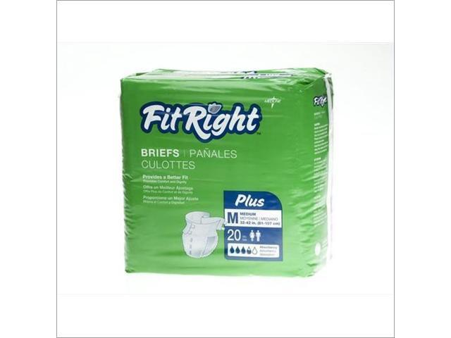 MEDLINE FITPLUSXXL FitRight Plus Briefs
