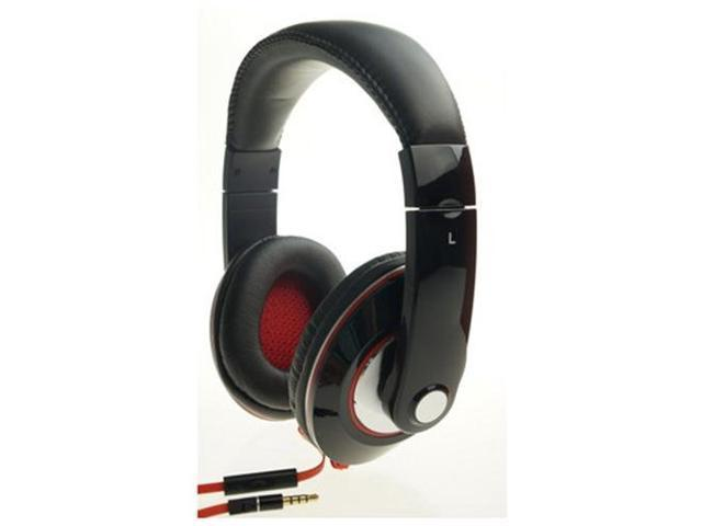Foldable Overhead Studio-Grade Stereo Headphone with Microphone HF-GH004-BK