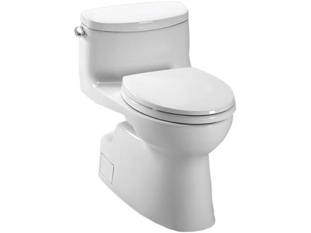 MS644114CEFG-01 Carolina II Elongated 1-Piece Floor Mount High Efficiency Toilet (Cotton White)