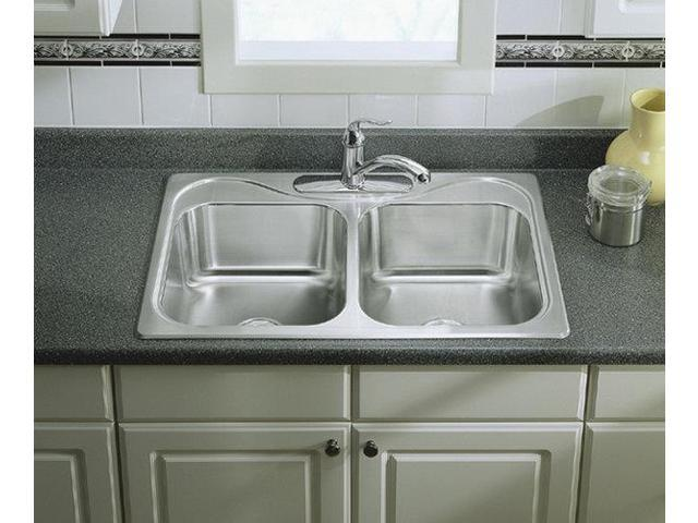 Sterling Stainless Steel Kitchen Sink Double Bowl STERLING PLUMBING ...
