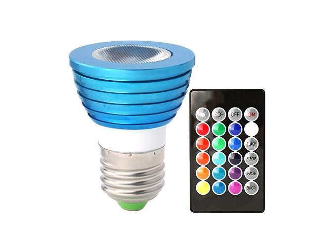 HitLights 3 Watt Color-Changing LED Light Bulb with Remote, 16 Colors