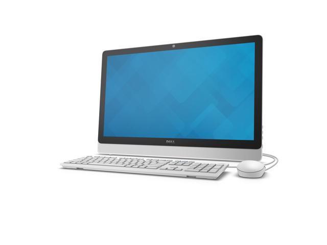 DELL All-in-One Computer Inspiron i3455-6042WHT AMD E-Series E2-7110 (1.8 GHz) 4 GB DDR3L 1 TB HDD 23.8