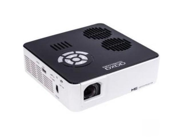 AAXA M5 Mini Portable Business Projector with Built-in Battery, 900 Lumens High Brightness, Native WXGA HD Resolution, Onboard Media Player