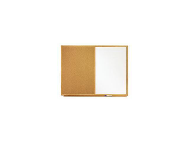 Quartet S554 4' x 3' Standard Combination Whiteboard/Cork Bulletin Board