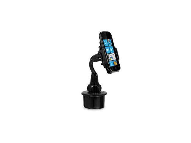Macally Black Adjustable Automobile Cup Holder Mount for Cell Phones, Smartphones, GPS and PDA MCUPMP