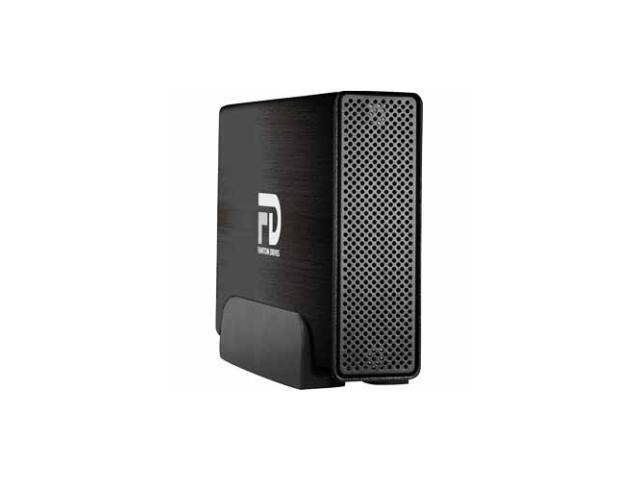 Fantom Drives Professional 3TB USB 3.0 / Firewire400 / Firewire800 / eSATA Aluminum Desktop External Hard Drive Black