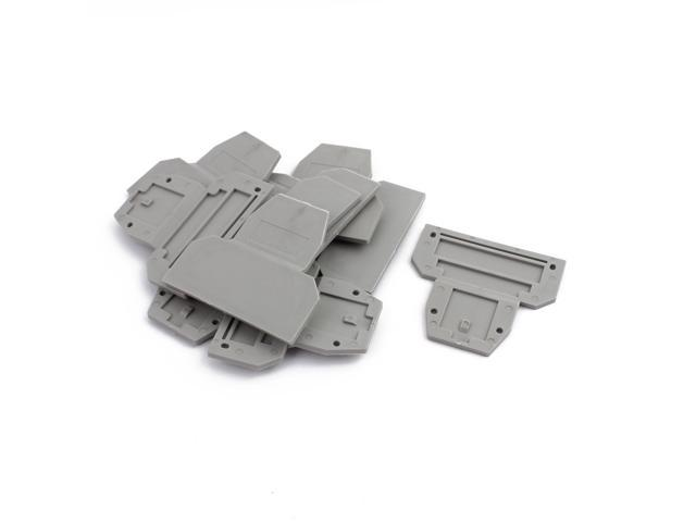 10Pcs D-UKK3/5 DIN Rail Terminal Block End Plate Covers Protectors Barriers