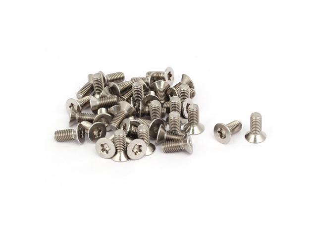 M5x12mm 304 Stainless Steel Countersunk Flat Head Torx Socket Screws Bolts 40pcs