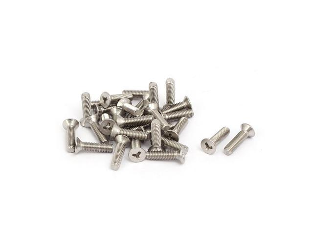 M3x12mm 304 Stainless Steel Y Type Socket Flat Head Tamper Proof Screws 30pcs
