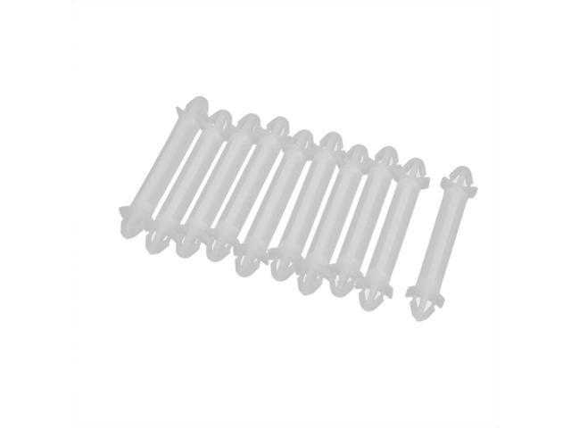 10Pcs Nylon PCB Support Spacer Standoff Locking Style 32mmx6mm