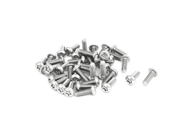M4x12mm 304 Stainless Steel Button Head Torx Tamper Proof Screws T20 Drive 40pcs