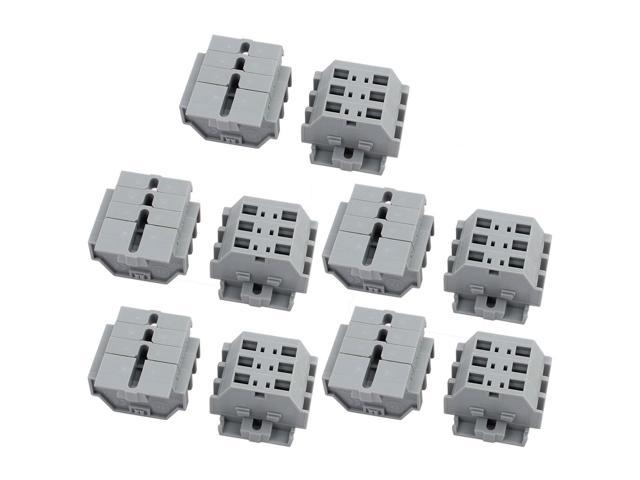 10pcs KFWS4.0-DB 630V 24A 7.0mm Pitch 3P Spring Terminal Block for PCB Mounting