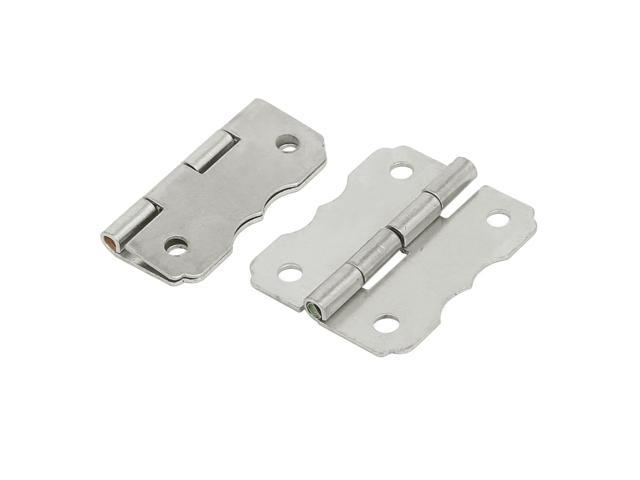 Cosmetic Box Wooden Case Metal Butt Hinges Silver Tone 30mm Length 2pcs