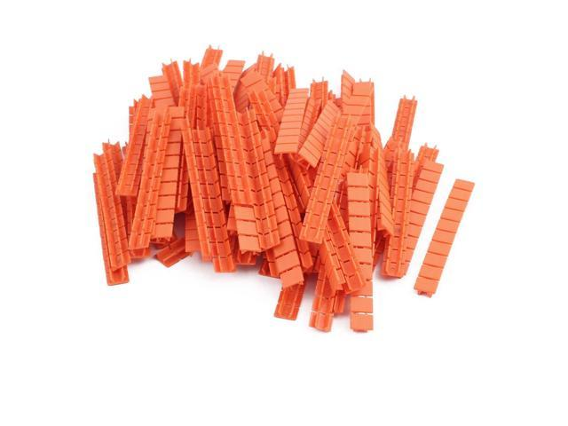 100Pcs ZB8 DIN Rail Terminal Block Marking Labels Marking Tags Blank Orange