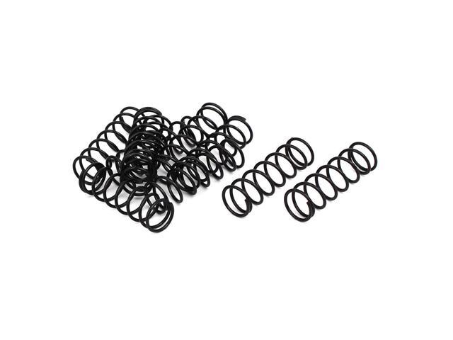 1.2mm Wire Dia 13mm Outer Diameter 40mm Long Compression Springs Black 10pcs