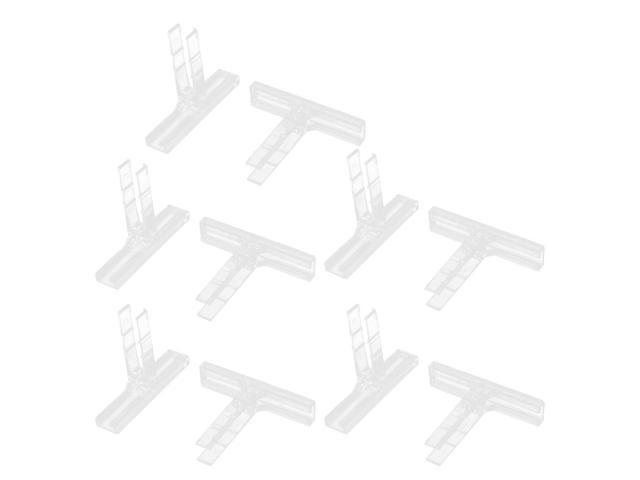 10Pcs KLM-A 46x38x9mm UK Series Terminal Fixed Block Tag Holder Clear
