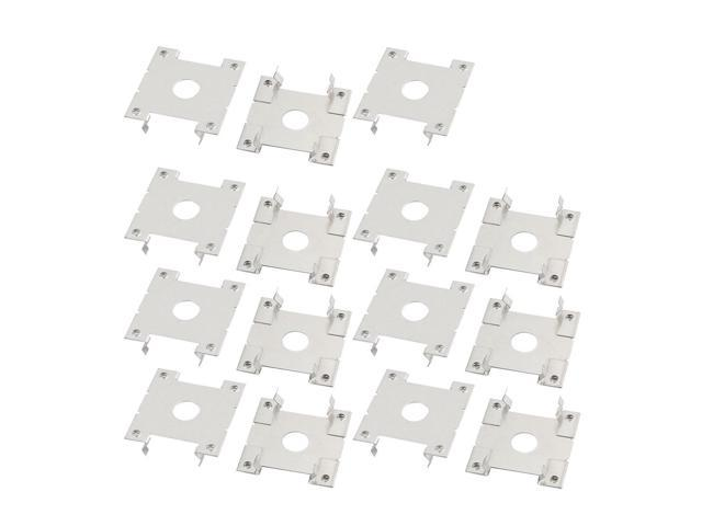 15pcs 32x30x8mm Stainless Steel Solar Conducting Strip Roof Mounting Bracket
