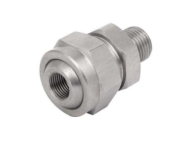 1/4BSPx1/8BSP 304 Stainless Steel Adjustable Nozzle Adapter Universal Joint