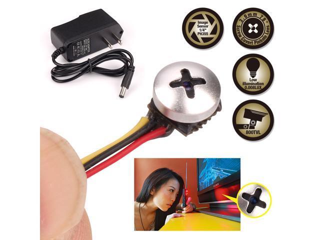 Spy camera zoter button screw hidden pinhole mini micro - Hidden camera in bathroom accessories ...