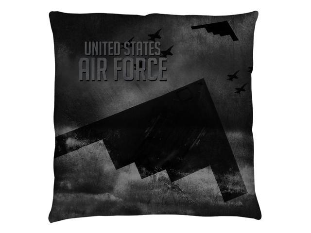 Air Force Stealth Throw Pillow White 20X20